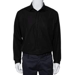 Dior Homme Black Cotton Button Front Shirt XXL