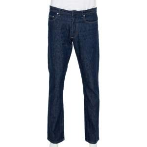 Dior Homme Navy Blue Denim Straight Leg Jeans L