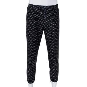 Dior Homme Black Polka Dot Jacquard Joggers M