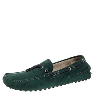 Dior Green Suede Loafers Size 42