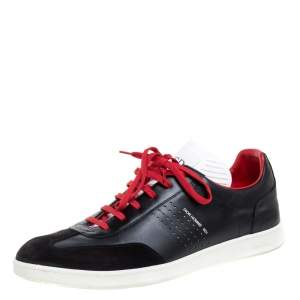 Dior Homme Tri Color Leather And Suede B01 Low Top Sneakers Size 45