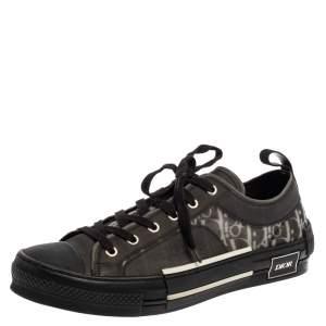 حذاء رياضى ديور منخفض من أعلى بى 23 مطاط وشبك رمادى / أسود مقاس 43