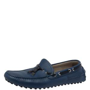 Dior Blue Leather Loafers Size 41