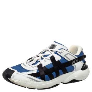 Dior Multicolor Leather And Fabric B24 Runtek Sneakers Size 44