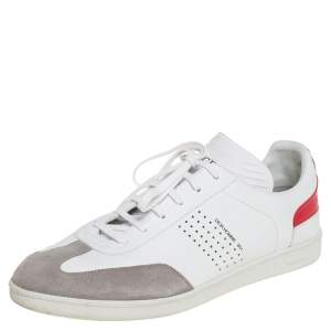 Dior White/Grey Suede And Leather B01 Low Top Sneakers Size 43