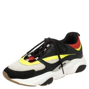 Dior Multicolor Mesh And Leather B22 Runner Low Top Sneakers Size 44