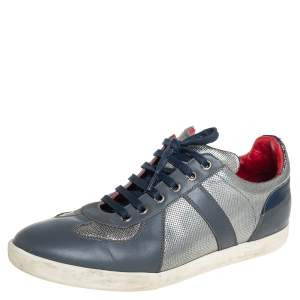 Dior Multicolor Leather Low Top Sneakers Size 40