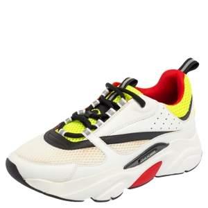 حذاء رياضي ديور B22  جلد وشبك متعدد الألوان بعنق برقبة منخفض مقاس 41