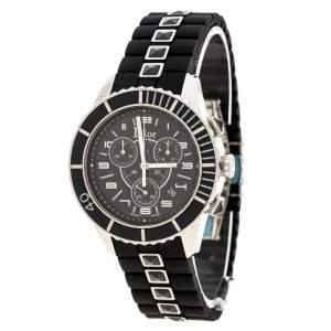 ساعة يد رجالية ديور CD114317 شريستال ستانلس ستيل سوداء 38مم