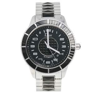 Dior Black Stainless Steel Christal CD115510M001 Men's Wristwatch 42 mm