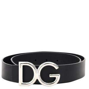 Dolce & Gabbana Leather Logo Belt Size 100 CM