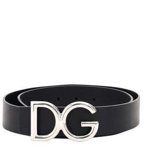 Dolce & Gabbana Leather Logo Belt Size 100 CM
