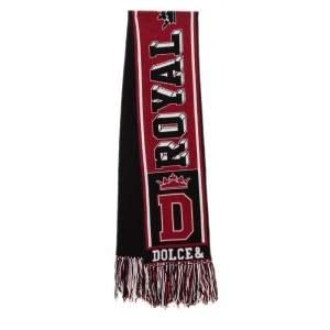 Dolce & Gabbana Red & Black Royal Love Cashmere Muffler