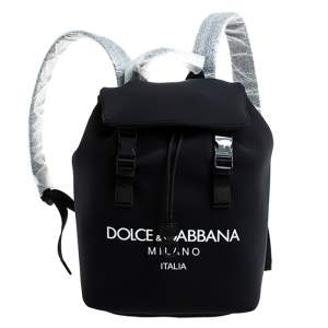 Dolce & Gabbana Black Neoprene Fabric Palermo Tecnico Backpack