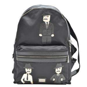 Dolce & Gabbana Black Nylon Vulcano Backpack
