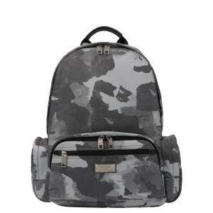 Dolce & Gabbana Grey Camouflage Nylon Print Backpack