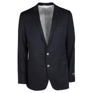 Dolce & Gabbana Martini Navy Blue Wool Tailored Two Button Blazer XL