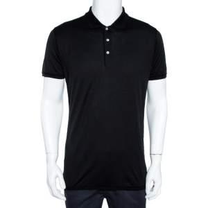 Dolce & Gabbana Black Cotton Polo T-Shirt M