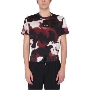 Dolce & Gabbana Bordeaux Camouflage Crew Neck T-Shirt size IT 46