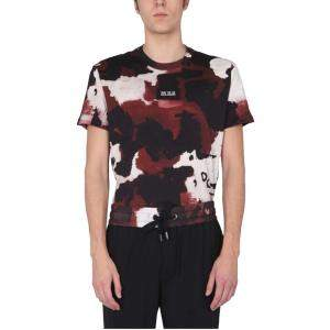 Dolce & Gabbana Bordeaux Camouflage Crew Neck T-Shirt size IT 48
