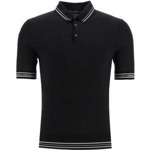 Dolce & Gabbana Black Silk Polo Shirt Size EU 46