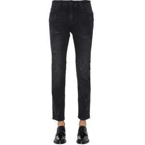 Dolce & Gabbana Black Distressed Denim Jeans Size EU 52