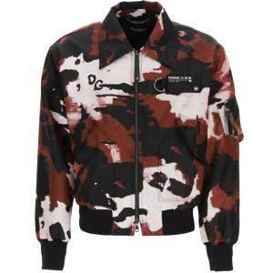Dolce & Gabbana Multicolor Camouflage Nylon Bomber Jacket Size S
