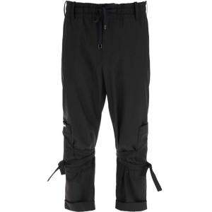 Dolce & Gabbana Black Jogging Trousers With Three-Dimensional Logo Size IT 48