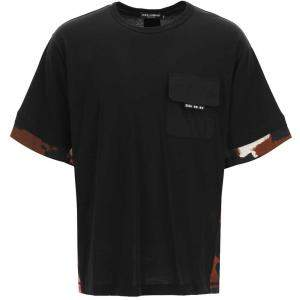 Dolce & Gabbana Black T-Shirt Camouflage Size L