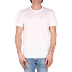 Dolce & Gabbana White T-Shirt Logo Size IT 50