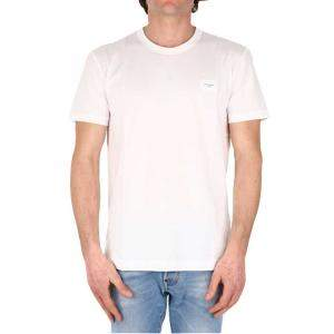 Dolce & Gabbana White T-Shirt Logo Size IT 52