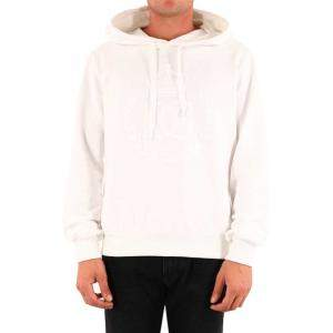 Dolce & Gabbana White Embroidered logo Hooded Sweatshirt Size 52