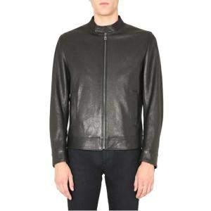 Dolce & Gabbana Black Leather zipped Jacket EU 50