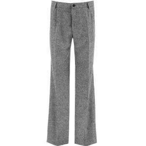 Dolce & Gabbana Grey/Black Houndstooth Trousers Size EU 48