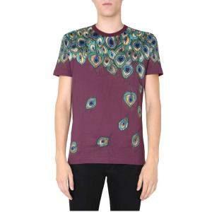 Dolce & Gabbana Cotton Peacock-print T-shirt Size EU 50
