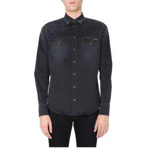 Dolce & Gabbana Black Denim Shirt Size EU 40