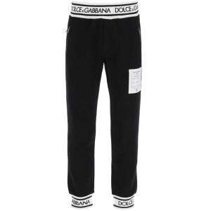 Dolce & Gabbana Black Logo Patch detail Track Pants Size EU 46