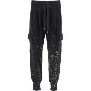 Dolce & Gabbana Black Dripping Color Effect Jogging Pants Size EU 48