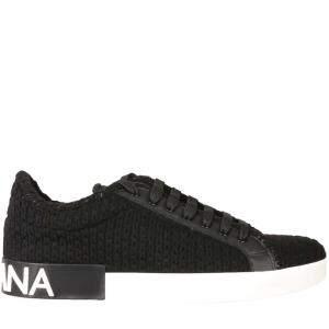 Dolce & Gabbana Black Portofino Sneakers size EU 43.5