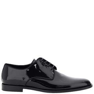 Dolce & Gabbana Black Leather Lace-Ups Shoe Size EU 43