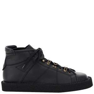 Dolce & Gabbana Black Leather Modigliani Lace-Up Shoes Size EU 43