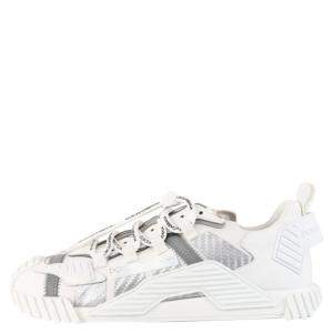 Dolce & Gabbana White Ns1 Mixed Material Sneakers Size EU 44