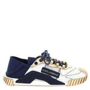 Dolce & Gabbana White/Blue NS1 slip-on Sneakers Size IT 42