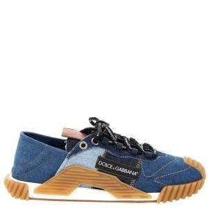 Dolce & Gabbana Multicolor Patchwork Denim NS1 Slip-on Sneakers Size IT 41
