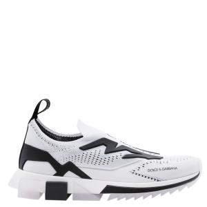 Dolce & Gabbana White/Black Sorrento Slip On Sneaker Size 43