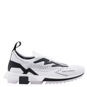 Dolce & Gabbana White/Black Sorrento Slip On Sneaker Size 44