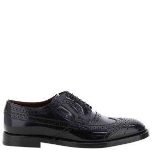 Dolce & Gabbana Nero Giotto Brogue Shoes Size IT 42