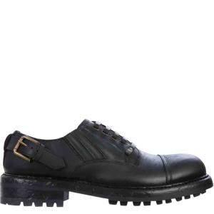 حذاء ديربي دولتشي أند غابانا جلد بقر أسود مقاس إيطالي 42.5