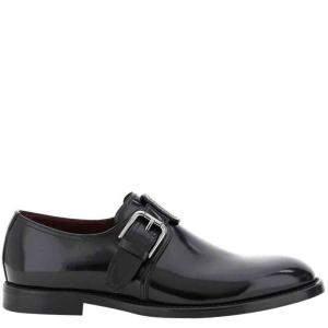 Dolce & Gabbana Black Giotto Monkstrap Shoes Size IT 43