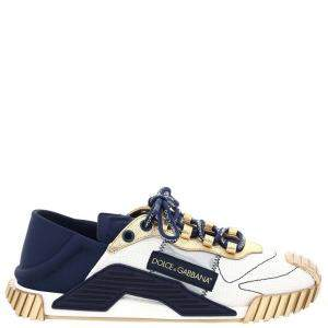 Dolce & Gabbana Gold/Blue/White NS1 low-top Sneakers Size IT 41